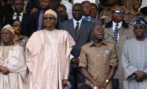 Image result for pictures of oshiomhole akande and tinubu